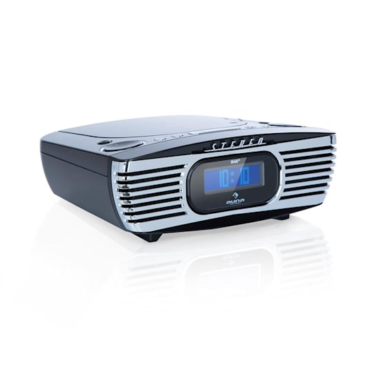 Dreamee DAB+ Radiowecker CD-Player DAB+/UKW CD-R/RW/MP3 AUX Alarm Retro schwarz