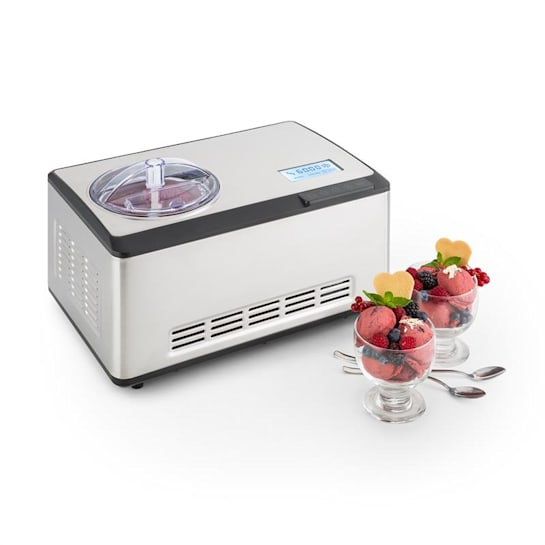 Dolce Bacio Ice Cream Maker Compressor 2l LCD Display Touch Stainless Steel