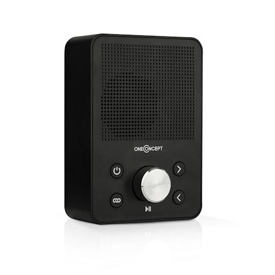Plug+Play FM, rádio do zásuvky, FM tuner, USB, BT, černé