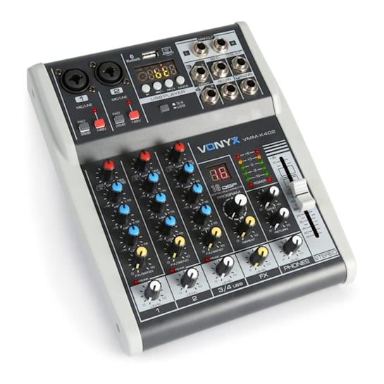 VMM-K402 4-Kanal Music Mixer Bluetooth USB-Audio-Interface