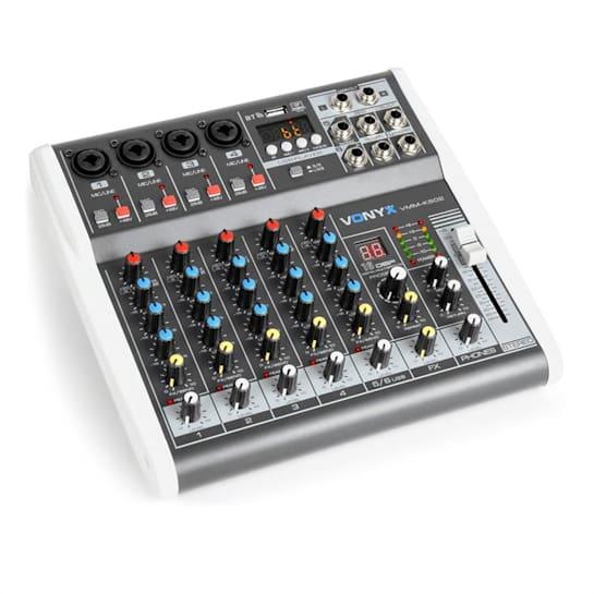 VMM-K602 6kanálový hudební mixážní pult, bluetooth, USB-Audio-Interface