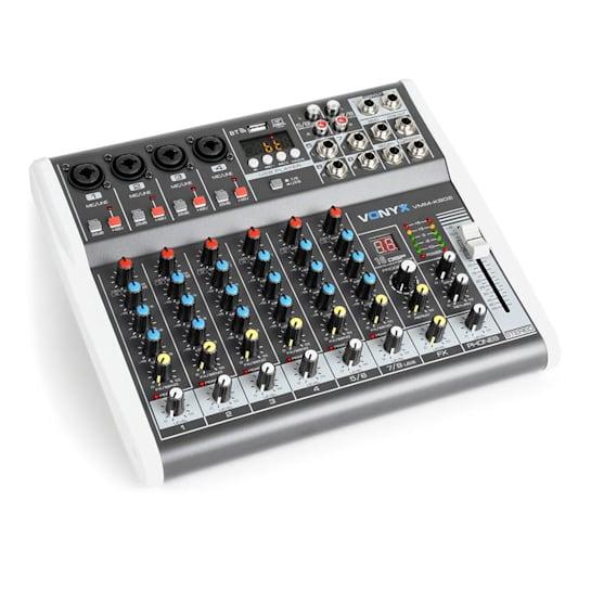VMM-K802 8-Kanal-Mixer, USB-Port, BT-Empfang, 16-DSP, +48V Phantomspeisung