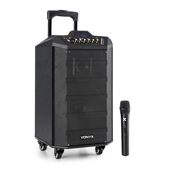 VPS10 Sound-System 250 W Collegamento USB/SD Bluetooth Batteria 12V/4,5 Ah