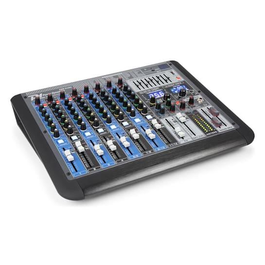 PDM-S1204 12-Kanal-Mischpult DSP/MP3, USB-Port, BT-Empfänger
