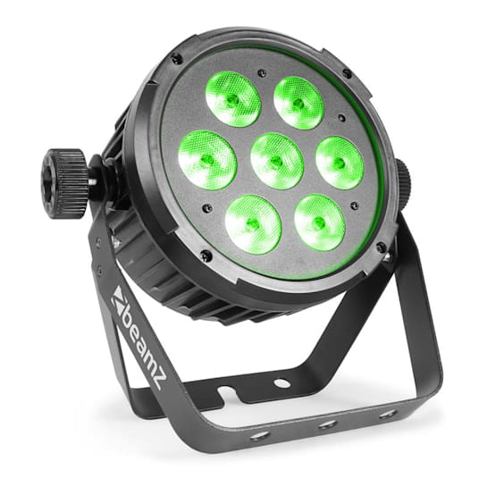 BT270 LED Flat Par LED-Strahler 7x 6W 4in1-LEDs RGBW Fernbedienung