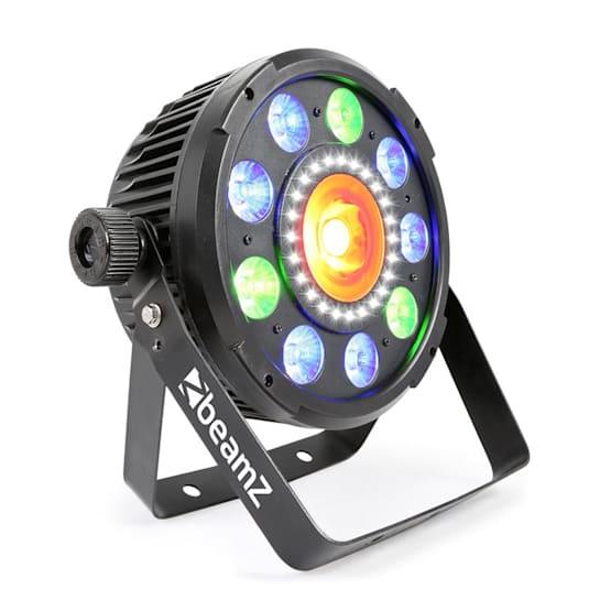BX96 PAR 9x9W 6in1 RGBW-UV leds 24xSMD leds COB technologie afstandbediening