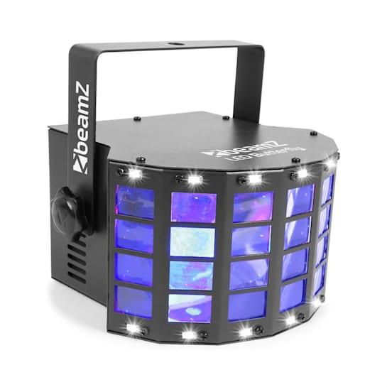 LED Butterfly 3x3W RGB + 14xSMD Strobe, zenével vezérelt- és automata üzemmód