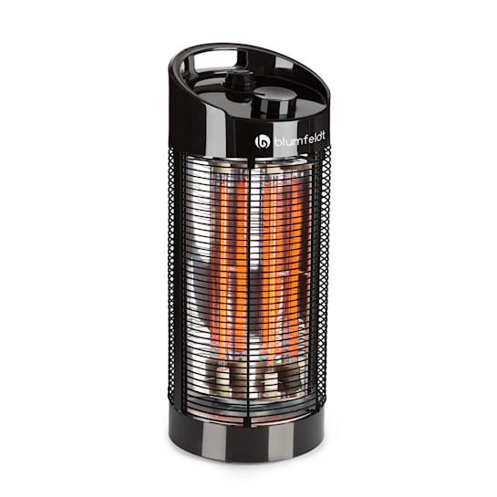 Heat Guru 360 Radiatore da Pavimento 1200/600W 2 Livelli di Calore IPX4 Nero