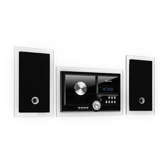Stereosonic Stereo System, Montagem em parede, CD-Player, USB, BT, preto