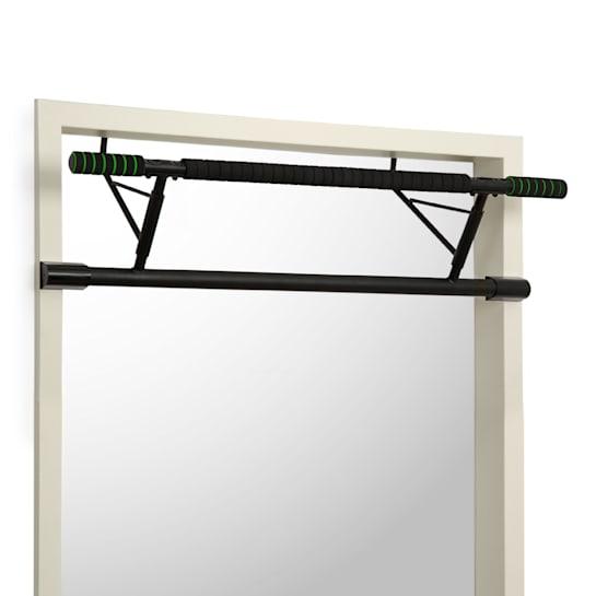 In-Door Klimmzugstange Türrahmenaufhängung 130kg EVA-Pads Stahl schwarz