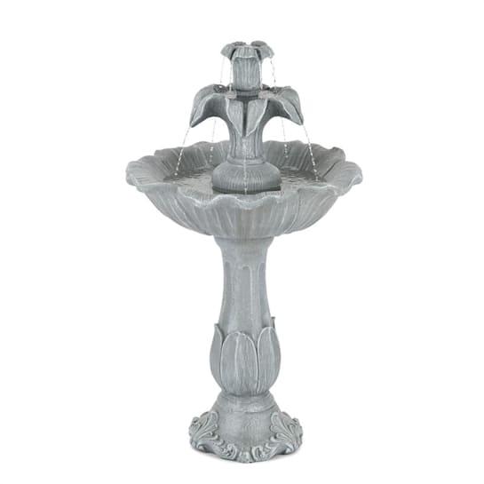 Floreal, záhradná fontána, polyresín, 6 W, romantický dizajn, vzhľad kameňa