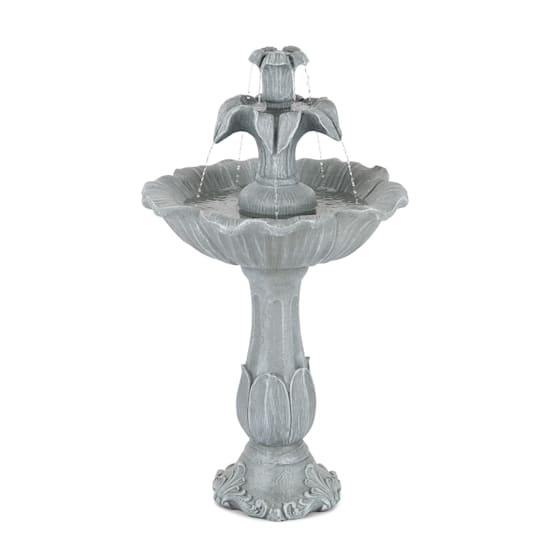 Floreal Gartenbrunnen Polyresin 6W romantisches Design Steinoptik