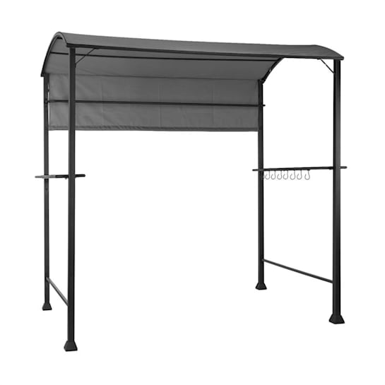 Steakhouse Grill Roof 220x215x140cm PE 180 g / m² Flame Retardant Steel Grey