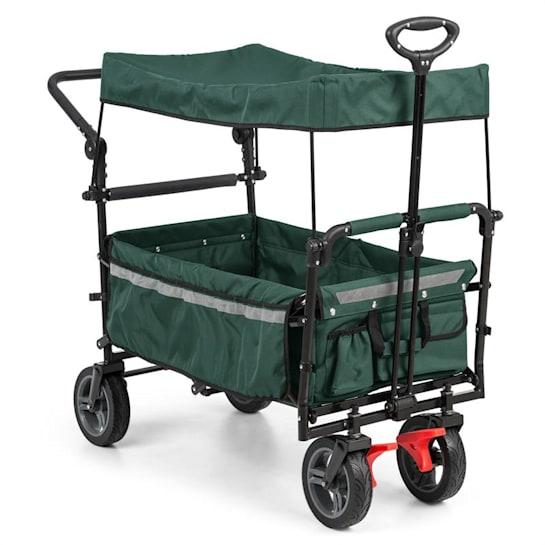 Easy Rider, cărucior cu acoperiș încărcare de până la 70 kg, verde