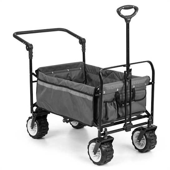 Easy Rider Handcart Up To 70kg Telescopic Rod Collapsible Grey