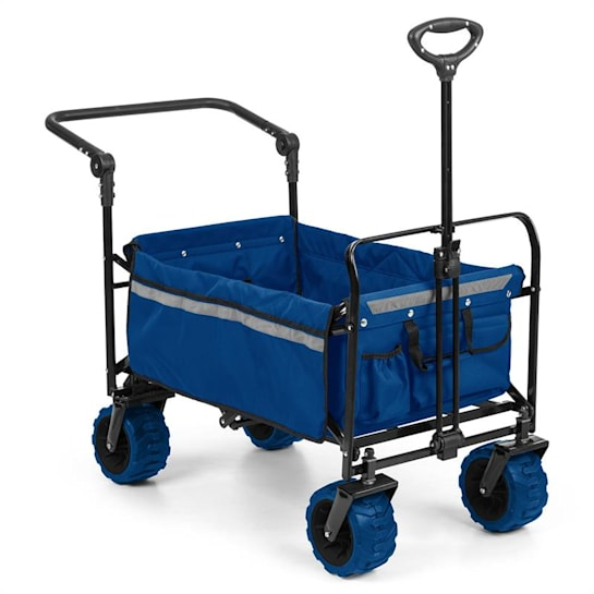 Easy Rider Handcart up to 70kg Telescopic Rod Collapsible blue