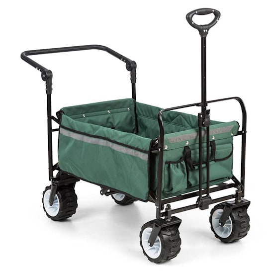 Easy Rider, cărucior de până la 70 kg, telescopic, pliabil, verde