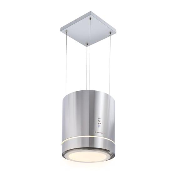 Tron Ambience Inselabzugshaube Ø38cm Umluft 540m³/h LED Edelstahl