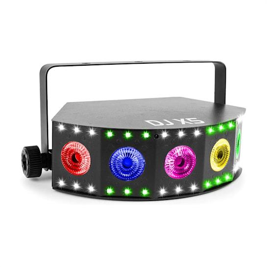 DJ X5 Array 5x 10W 4in1 und 30x SMD RGB DMX- oder Standalone schwarz