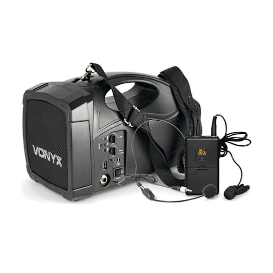 ST012 Impianto Radio PA Portatile Body-Check SMT USB BT MP3 Batteria 12 Vdc