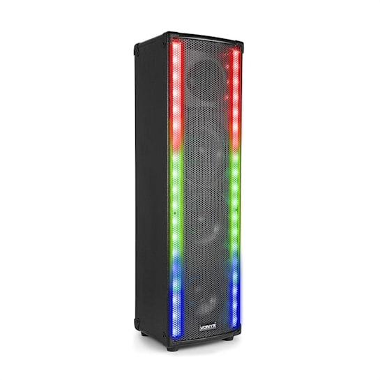 LM65 PA Lautsprecher Bluetooth 5 Beleuchtungsmodi 400W schwarz