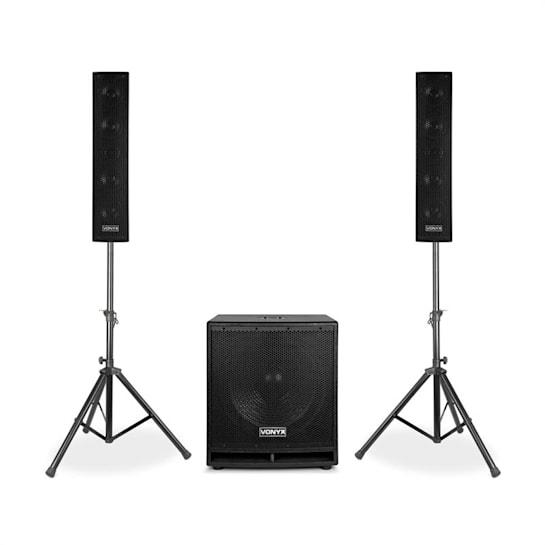 """VX880BT 2.1 Aktives Lautsprecher-Set 1000 W 15"""", 2 x 8"""", USB/SD/MP3/BT"""