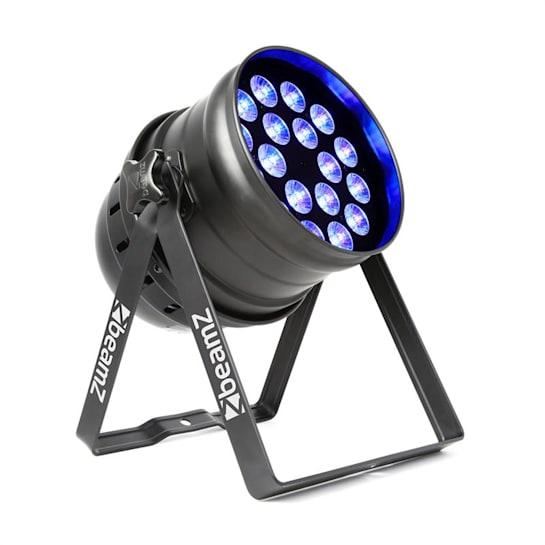 BPP100 PAR 64 LED reflektor, 18x6 RGBW 60W DMX, černá barva