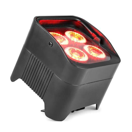 BBP94 Uplight PAR projektor LED 4 x 10 W 6 w 1 diody LED RGBAW-UV 48 W akumulator 12,6 V/ 7,8 Ah kolor czarny