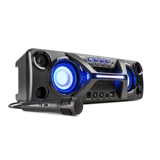 Ultrasonic BT boombox bluetooth 2 x 20W LCD näyttö karaoketoiminto musta