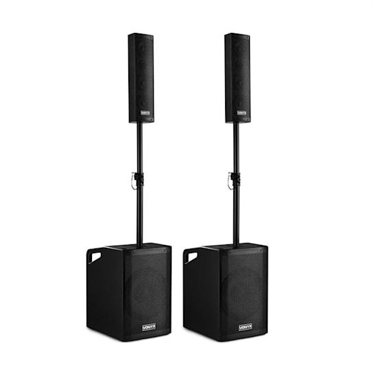VX1050BT Aktiv Lautsprecher Kit 2.2 1150W BT Trolley Schutzcover