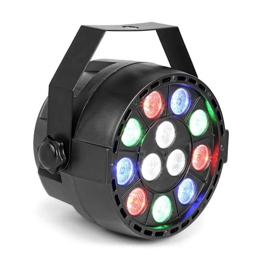 Party Projektor PAR 12x 1 W RGBW-LED 15 W DMX/standalone/dźwięk 7 kanałów