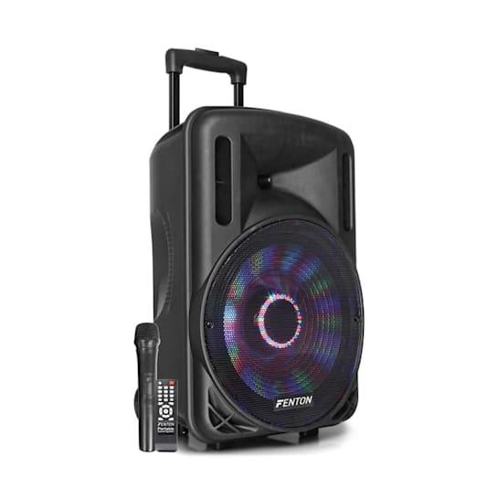 "FT12LED Cassa Attiva 12"" 700W BT/USB/SD/AUX LED Batteria Trolley"