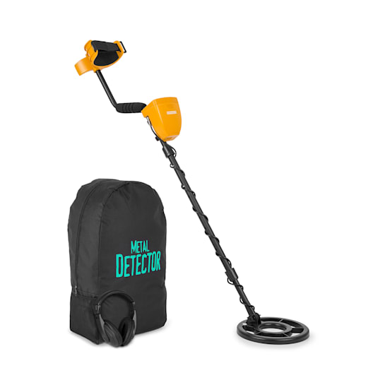 Dr. Jones Metal Detector 5 Modes Ø20cm to 2m Display Backpack Headphones