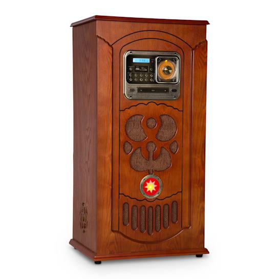 auna Musicbox Jukebox, Record Player, CD Player, BT, USB, SD, FM Tuner, Wood