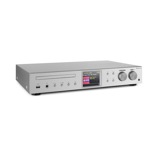 iTuner CD HiFi-Receiver Internet/DAB+/ FM Radio CD-Player WiFi silber