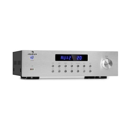 AV2-CD850BT 4-zone stereo-versterker 5 x 80W RMS bluetooth USB FM zilver