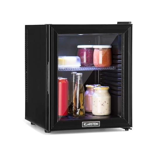 Brooklyn 32L, hladnjak, A, LED, plastična polica, staklena vrata, crna boja