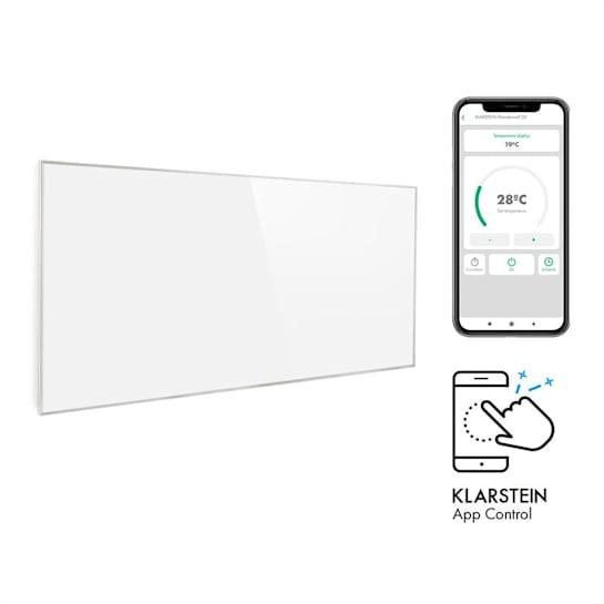 Wonderwall Smart, radiatore a infrarossi, 60x120cm, 720W, timer settimanale, IP24, bianco