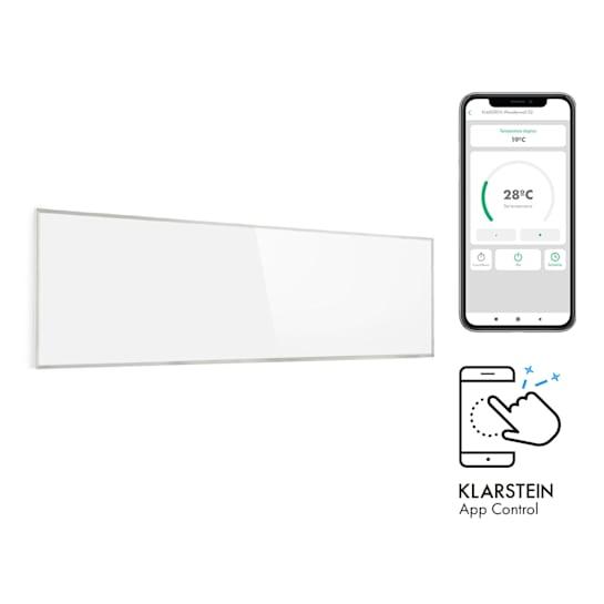 Wonderwall Smart Infrarotheizung 100x30cm App-Steuerung 300W Wochentimer IP24