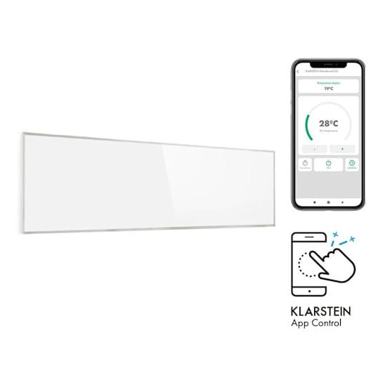 Wonderwall 300 Smart, infrapanel, infračervený ohřívač, 30 x 100 cm, 300 W, časovač, IP24, bílý