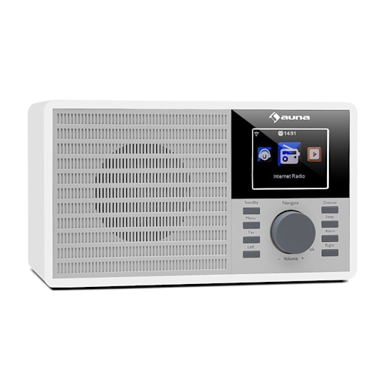 "IR-160 Internetradio WLAN USB AUX UPnP 2.8"" TFT-Display Fernbedienung weiß"