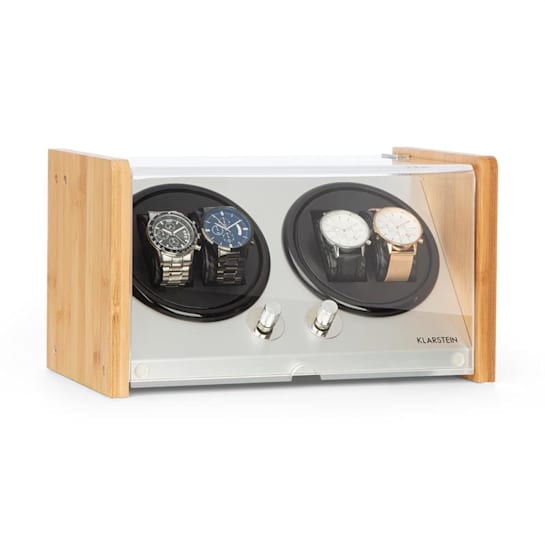 Hanoi 4 Watch Winder, 4 Watches, 3 Speeds, 4 Modes, Bamboo