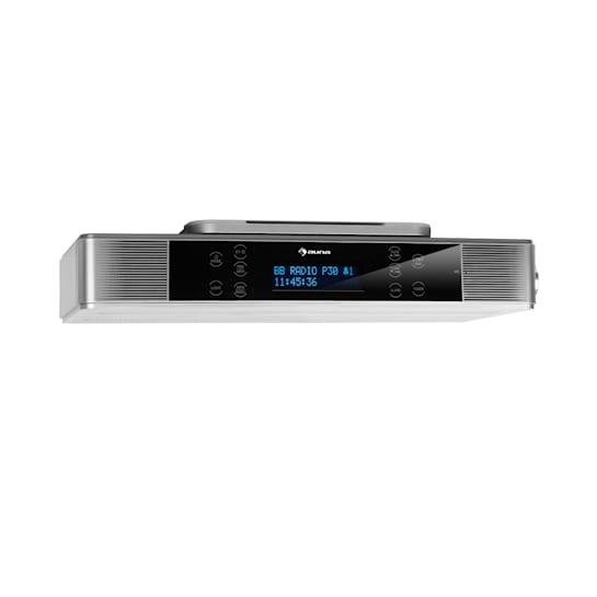 KR-140 Bluetooth Kitchen Radio Hands-free LED Lighting Silver