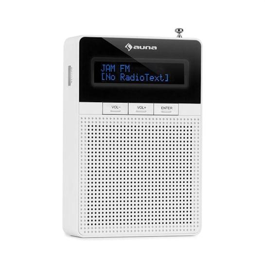 DigiPlug Radio con Presa di Corrente FM, FM/PLL, BT, display LCD, bianco