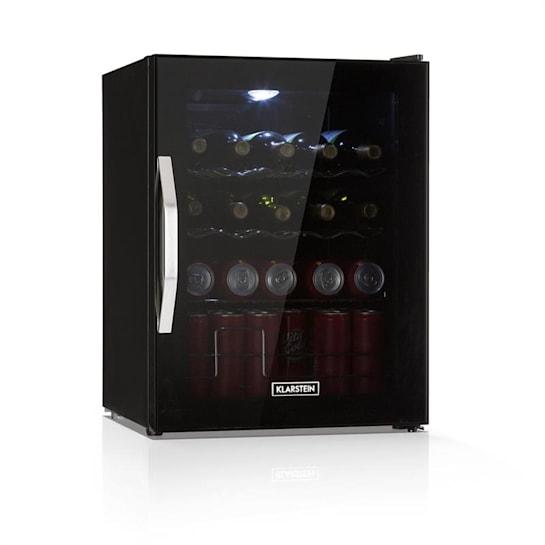 Beersafe XL Onyx, chladnička na nápoje, A++, LED, kovové rošty, skleněné dveře