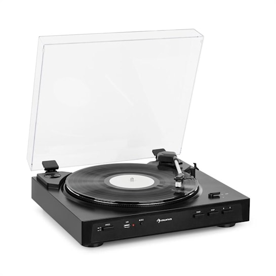 Fullmatic Fully Automatic Turntable USB Preamp Black