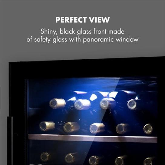 Barossa 29d Wine Fridge 2 Zones 34 Bottles Glass Door