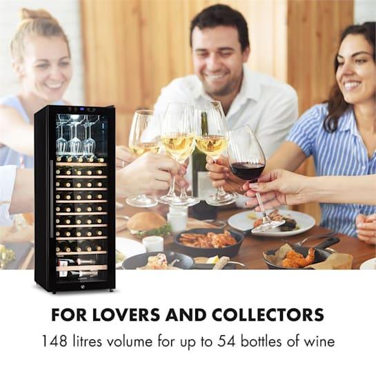 Barossa 54s Wine Fridge 1 Zone 148 L 54 Bottles Glass Door