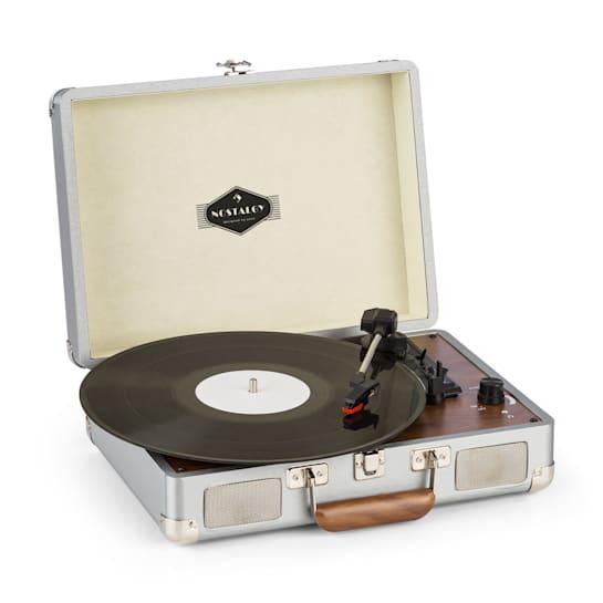 Peggy Sue, gramofon, stereo, USB, stříbrný