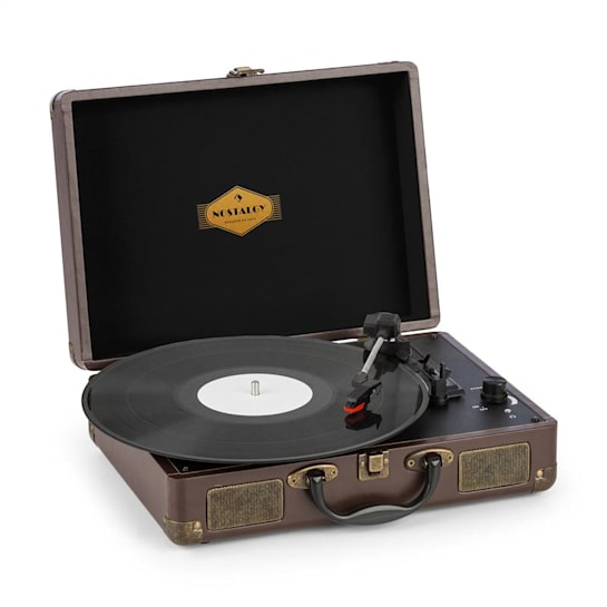 Peggy Sue Turntable Stereo Speaker USB Port Brown
